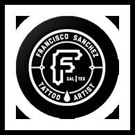 Francisco Sanchez tattoo artist logo with glow